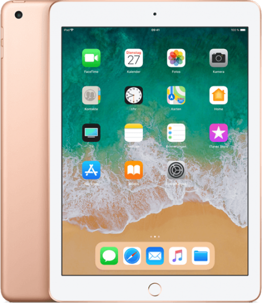 apple ipad 2018 9 7 wifi cellular 128gb gold ratenkauf. Black Bedroom Furniture Sets. Home Design Ideas