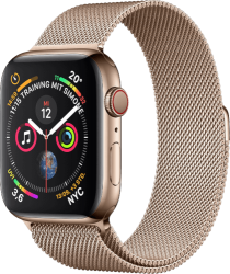 Apple Watch Series 4 (GPS + LTE) Edelstahl, Gold 40mm Milanaise Armband